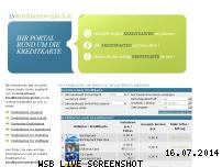 Ranking Webseite 1a-kreditkartenvergleich.de