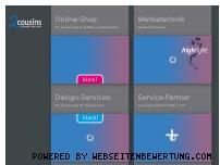 Ranking Webseite 2cousins.de