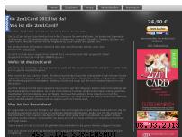 Ranking Webseite 2zu1card.de