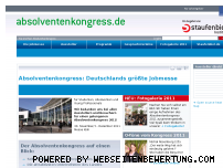 Ranking Webseite absolventenkongress.de