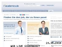 Ranking Webseite academics.de