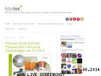 Ranking Webseite advalux-plissee.de