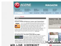 Informationen zur Webseite adzine.de