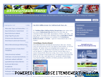 Ranking Webseite aktivurlaub-fans.de