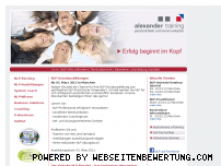 Informationen zur Webseite alexander-training.de
