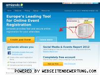 Ranking Webseite amiando.com