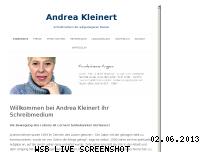 Informationen zur Webseite andrea-kleinert.de