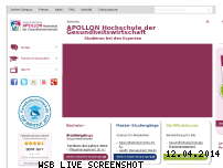 Informationen zur Webseite apollon-hochschule.de
