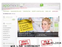 Ranking Webseite apomex-versand.net