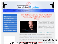 Informationen zur Webseite aprier.de