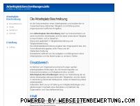 Ranking Webseite arbeitsplatzbeschreibungen.info