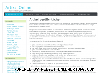 Ranking Webseite artikel-on.de