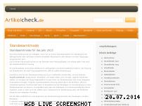 Ranking Webseite artikelcheck.de