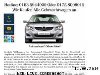 Informationen zur Webseite autoankauf-in-duesseldorf.jimdo.com