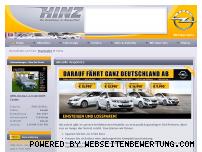 Ranking Webseite autohaus-hinz.de
