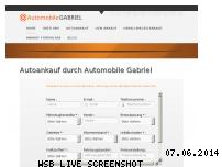 Informationen zur Webseite automobile-gabriel.de