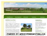 Ranking Webseite badeborn-am-harz.de