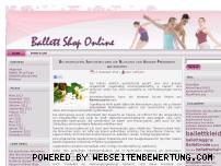 Ranking Webseite ballett-shop-online.de