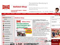 Ranking Webseite ballistol-shop.de