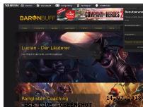Ranking Webseite baronbuff.de