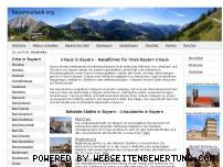 Ranking Webseite bayernurlaub.org