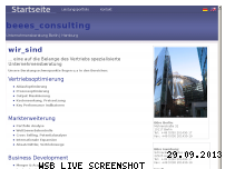 Ranking Webseite beeesconsulting.com