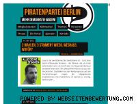 Ranking Webseite berlin.piratenpartei.de