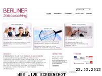 Ranking Webseite berlinerjobcoaching.de