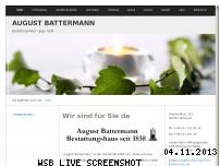 Informationen zur Webseite bestattungshaus-battermann.de