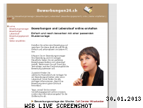 Informationen zur Webseite bewerbungen24.ch
