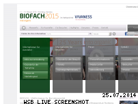 Ranking Webseite biofach.de