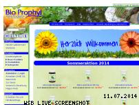 Ranking Webseite bioprophyl.de