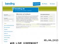 Ranking Webseite bonding.de
