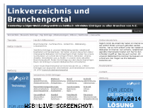 Informationen zur Webseite branch24.de