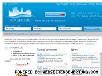 Ranking Webseite buergersein.de