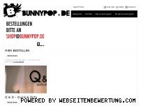 Ranking Webseite bunnypop.de
