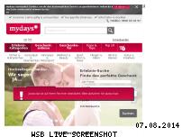 Ranking Webseite ch.mydays.com
