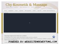 Ranking Webseite chy-kosmetik-massage.de