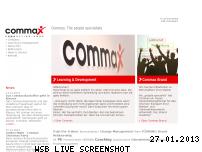 Ranking Webseite commax.de