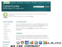Ranking Webseite cybergurke.de
