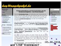 Ranking Webseite das-wunschpaket.de