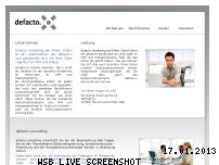 Ranking Webseite defactomarketingamrhein.de