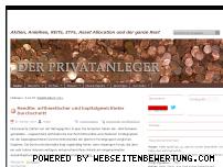 Ranking Webseite der-privatanleger.de