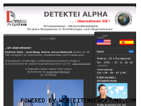 Ranking Webseite detektei-alpha.com