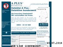 Ranking Webseite detektei-aplus.de