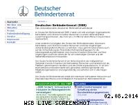 Ranking Webseite deutscher-behindertenrat.de