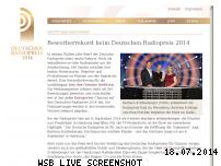 Ranking Webseite deutscherradiopreis.de