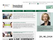 Informationen zur Webseite deutschland-stipendium.de