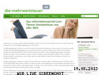 Ranking Webseite die-mehrwertsteuer.de