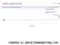 Ranking Webseite diesel-abzocke.de